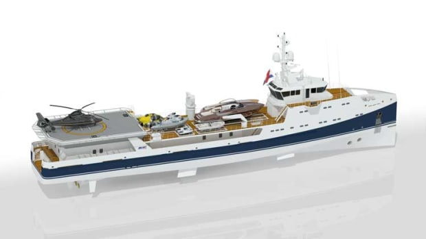 Damen/Amels heli-hangar support vessel
