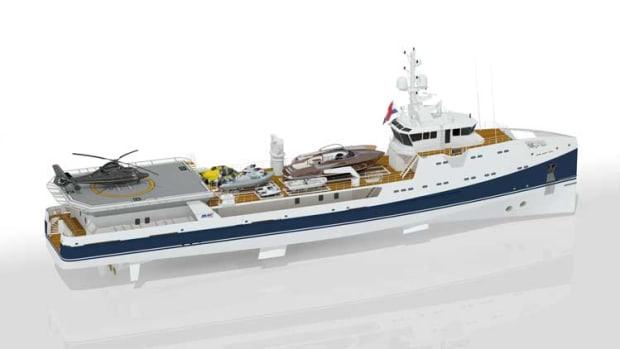 Damen/Amels heli-hangar support vessel