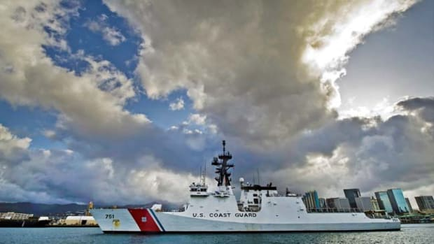 U.S. Coast Guard Cutter Waesche visits Honolulu