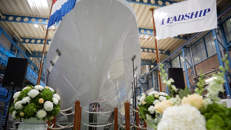 Feadship Launches Superyacht HASNA