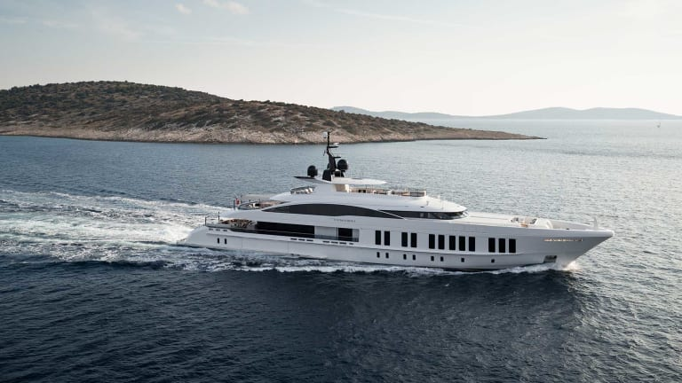 Alia Yachts' 197-foot (60-meter) Samurai will be making her debut at the Monaco Yacht Show