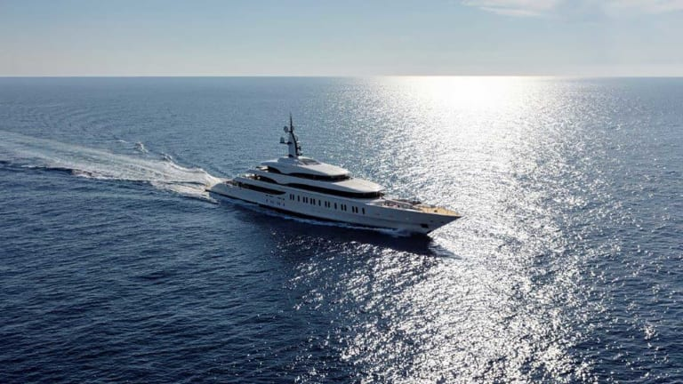 "Benetti's flagship 354-foot (108-meter) giga yacht "" FB 275"" has been delivered to her owners"