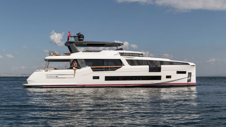 Sirena 88  making world debut at the Cannes Yachting Festival