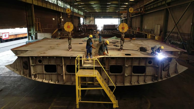 Abeking & Rasmussen lay the keel for a 387-foot motoryacht—their largest project ever