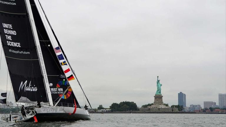 Greta Thunberg, 16-year old environmental activist,sails transatlantic with Monaco Royal Pierre Casiraghi