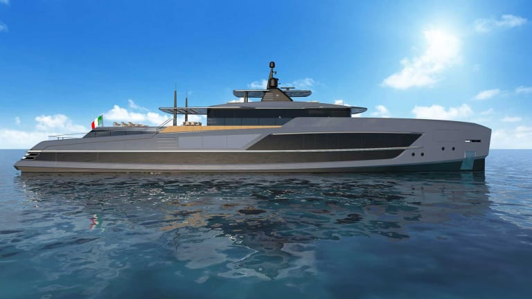 Baglietto introduces its new 213-foot (65-meter) superyacht with Francesco Paszkowski Design