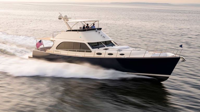 The Palm Beach 70 made her world debut at the 2019 Fort Lauderdale International Boat Show