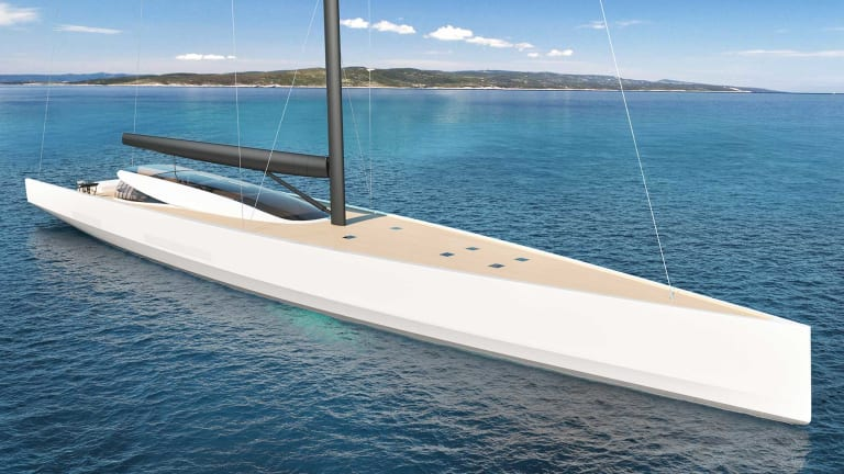 Philippe Briand's 200-foot energy efficient sailing yacht