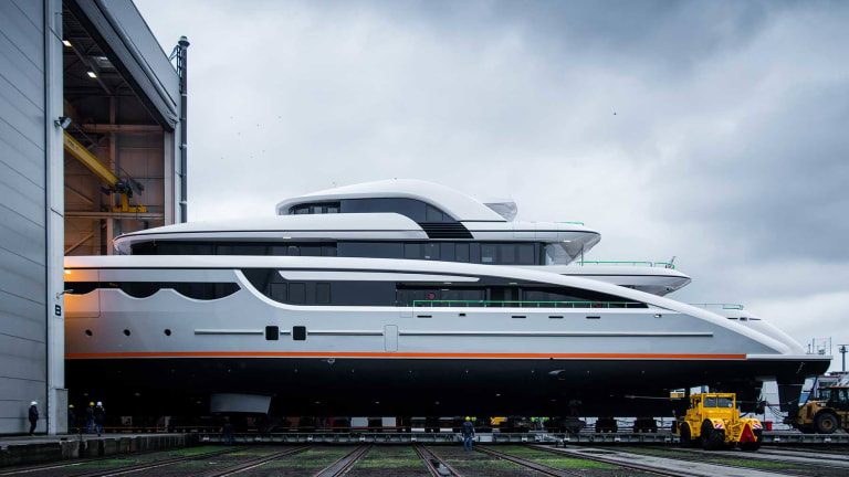 Soaring into View Abeking & Rasmussen launches 223-foot Motoryacht
