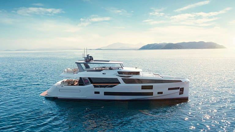 Sirena Yachts is on track for the launch of its flagship 88-footer