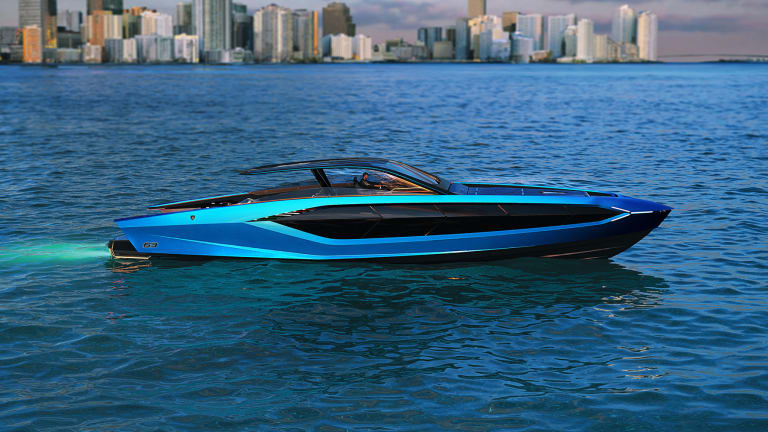 Lamborghini and The Italian Sea Group unveil the motor yacht 'Tecnomar for Lamborghini 63'