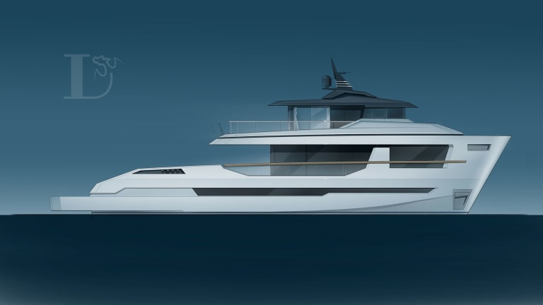 LYNX YACHTS UNVEILS 95-FOOT (29-METER) CROSSOVER ORION
