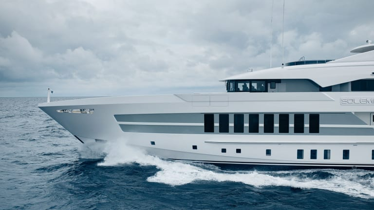 180-foot / 55-meter Heesen Steel-class Solemates with exterior by Omega and interior by Bannenberg and Rowell is the shipyard's second delivery since Covid-19 struck