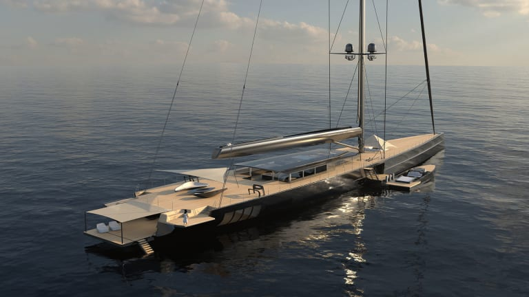 Royal Huisman and Malcolm McKeon have teamed up on a concept for the world's largest sloop— the 279-ft/ 85m Apex 850
