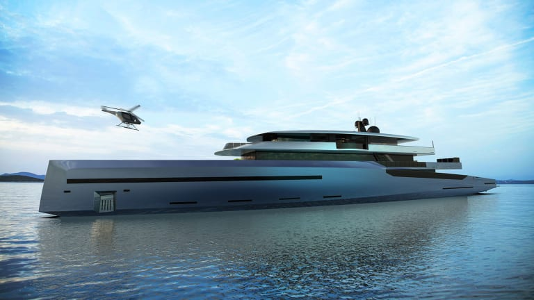 Bravo 75—Inspired by Sailing Yachts— 246ft /75m motoryacht