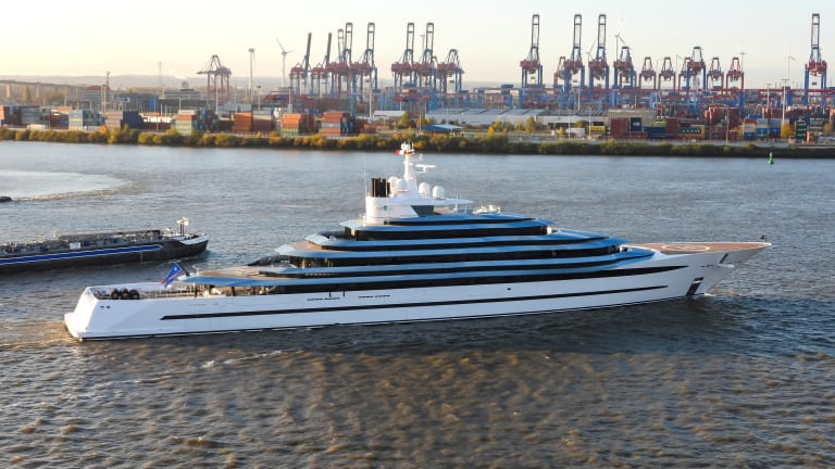 Lürssen completes a refit on 361-foot / 110m Kaos ( formerly Jubilee)  — its biggest refit to date
