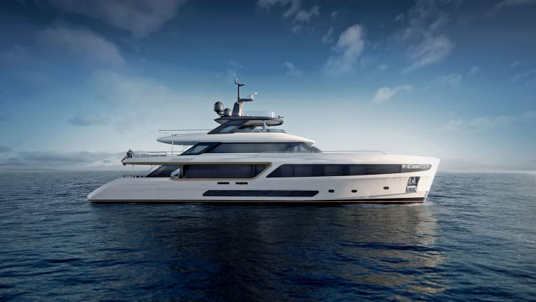 Benetti with clients from Royalty and Rock stars presents the new Motopanfilo 37M ( 121ft) as a nod to the 1960's