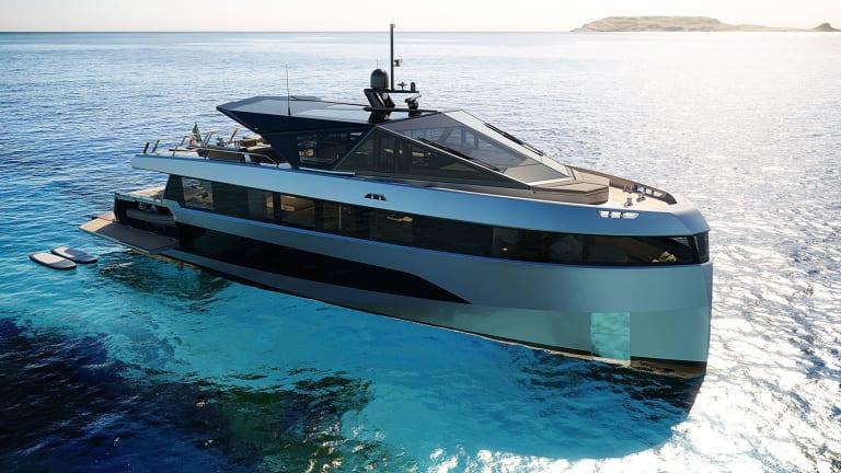 WHY200— new futuristic hybrid Wally Motoryacht