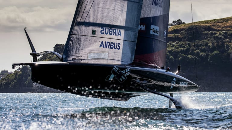 American Magic's Patriot Returns to the Water 10 Days After Disastrous Crash