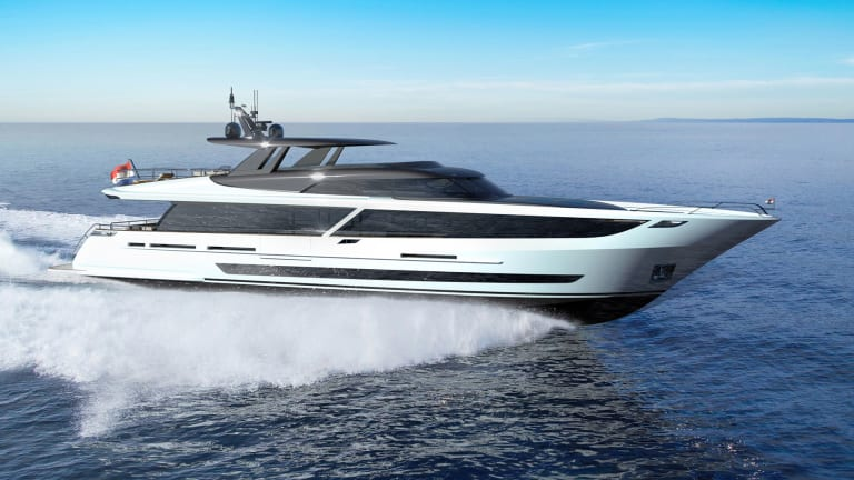 Van der Valk started construction on a custom a 108-foot/ 33-meter raised pilothouse, called Blue Jeans, designed by Guido de Groot