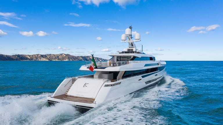 M/Y K2— the new 164-foot (50-meter) Sport yacht built by Columbus Yachts completes first sea trials
