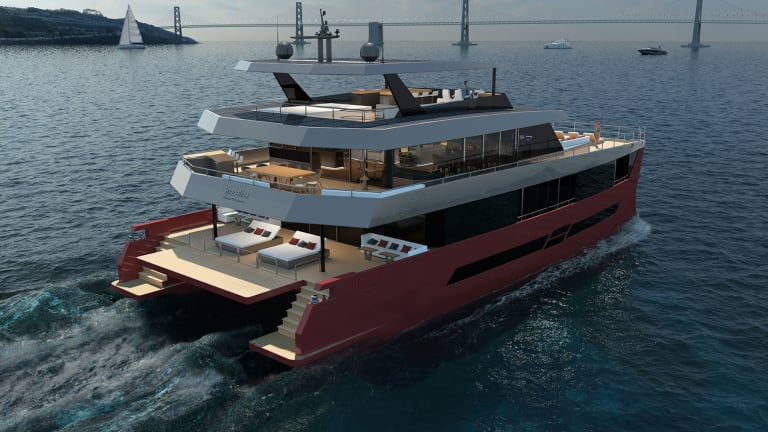 Ultimate Catamarans offers new Spaceline 100— luxury and eco vision combined