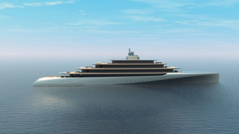 PEBBLE—A new  140-meter yacht concept by Van Geest Design takes its inspiration from nature