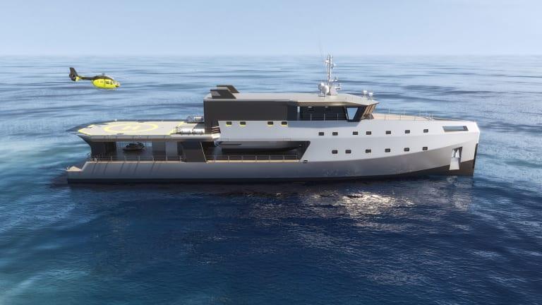 Kirsten Schwalgien Design's Damen Support VesselBIG SHADOW wins Good Design Award