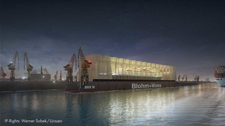New Blohm + Voss Covered Dock Planned in Port of Hamburg