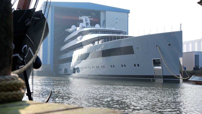 Feadship launches the 328-foot Moonrise—largest superyacht by waterline length built at Feadship to date