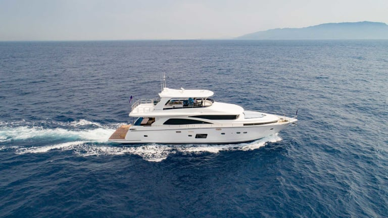 New Johnson 80— a cruiser with interior by Karen Lynn Interior Design