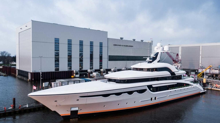 Soaring—Abeking & Rasmussen's new 223-foot (68-meter) motoryacht—delivered on time