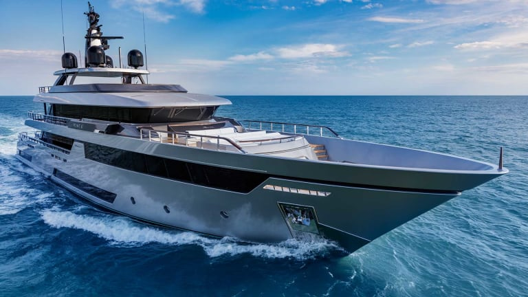 TEAM Italia installed its I-Bridge on the  first 164-foot/ 50-meter Riva  M/Y Race