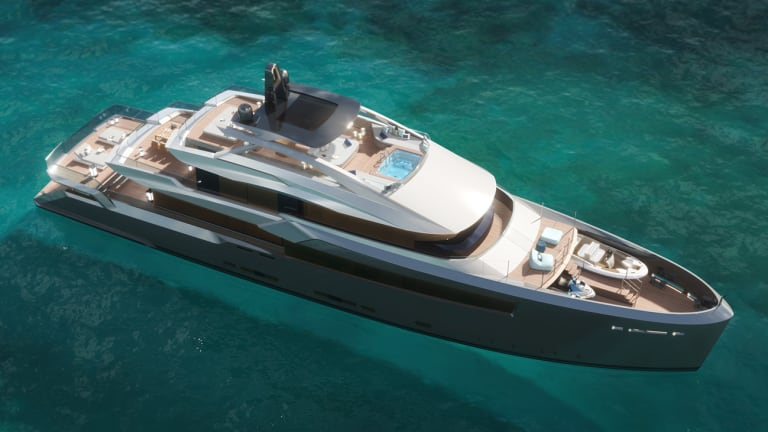 Bannenberg & Rowell Design offer their new 141ft/43m  ESTRADE concept for a New Age