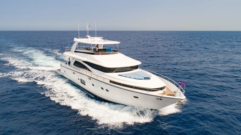 Johnson Yachts has an 80-footer ready to ship to the US and is optimistic about the future