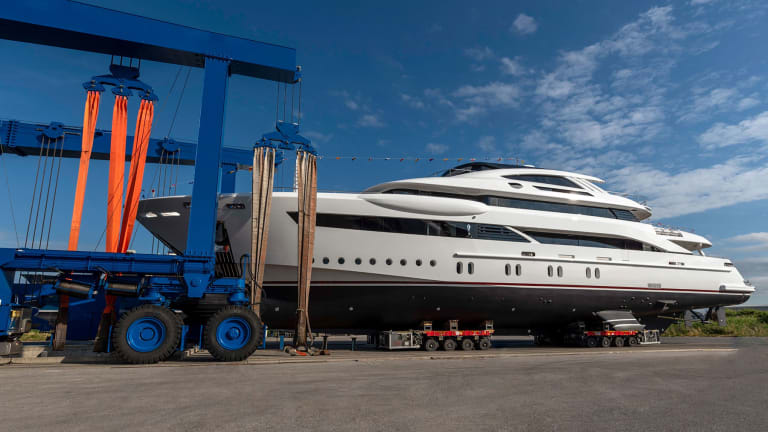 Rossinavi launched 171-foot (53- meter)  Florentia with exterior styling by Studio Vafiadis