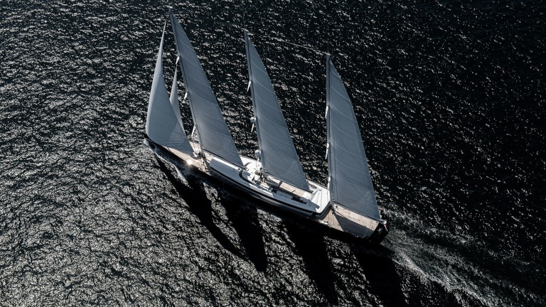 The Royal Huisman-built Sea Eagle II, the world's largest aluminum sailing yacht, is getting ready for delivery