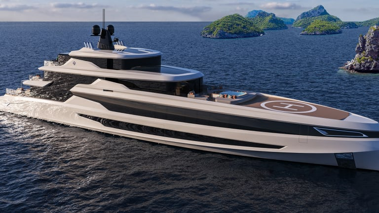 Fincantieri's Blanche is a new 230-foot (70-meter) concept