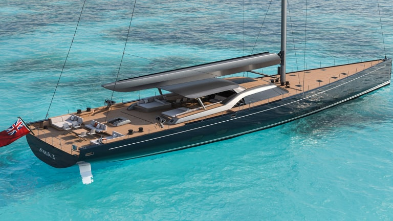 The hull turning of Royal Huisman's 151-foot performance cruiser is a milestone in the build process
