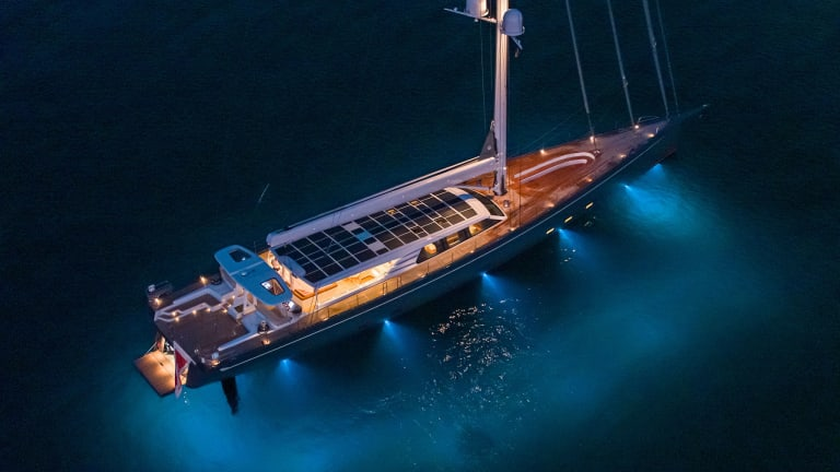 The 146-foot sailing yacht, Path, built by Baltic Yachts, is a high performance, multi-role super-cruiser deigned by Judel/Vroliik