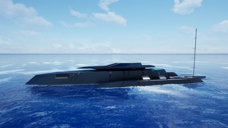 M/Y Bond Girl—a stealthy new yacht concept