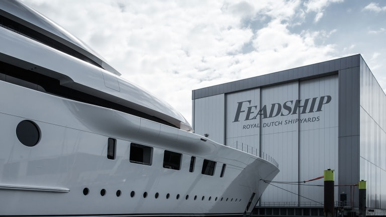 Feadship launched the 312-foot/95-meter Bliss—a family yacht with very latest hybrid propulsion and Polar Code certification
