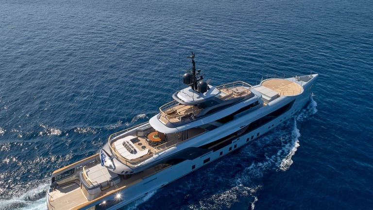 Geco— the new 180ft/55m charter yacht built by Admiral Yachts