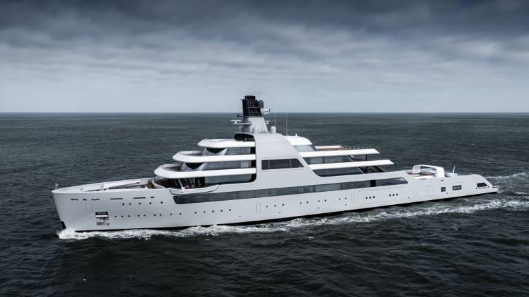 Lloyd Werft 's 459-foot/140- meter M/Y SOLARIS  has been under wraps until now
