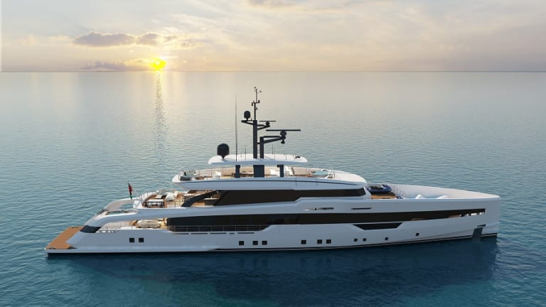 CRN reveals the initial design details of their new 171-foot/52-meter M/Y 142 with exterior design by Omega Architects