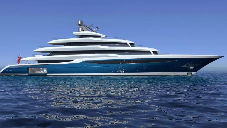 Turquoise Yachts  reveals the 277ft/84m Project Atlas designed by Harrison Eidsgaard