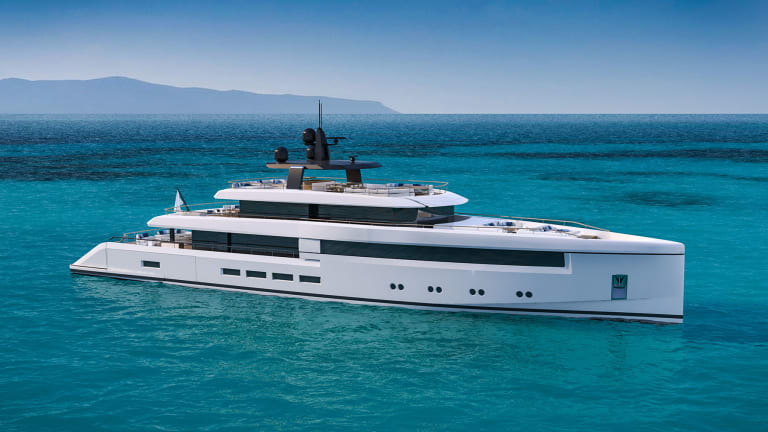 The Nauta 54m Wide is a new concept original layout solutions conceived for modern family lifestyles afloat