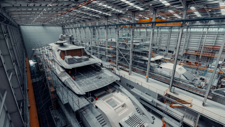 Two 263-foot/80-meter sisterships of M/Y Tatiana are moving full steam ahead.