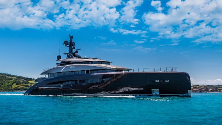 A discerning owner, with a personal passion for music, makes his voice heard during the design and construction of the 203-foot (62-meter) CRN-built true custom yacht Voice