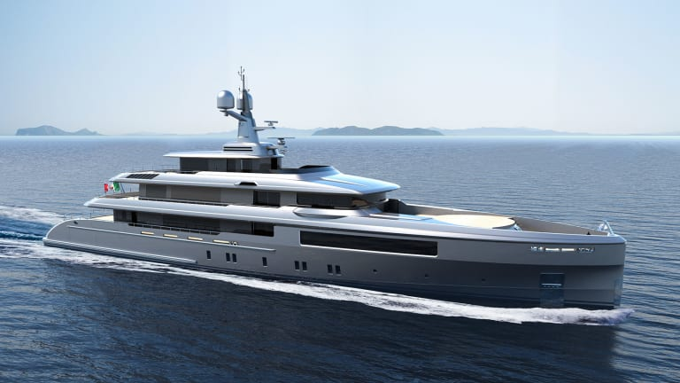 Codecasa 58m / 190ft–with interior design by M2Atelier—will reach speeds of 21 knots
